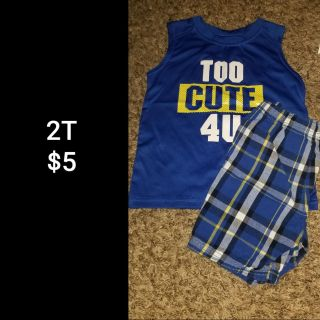 2T tank top/shorts outfit