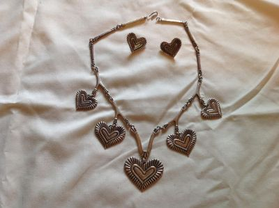 Brighton heart necklace with matching heart earrings