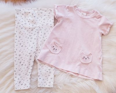 Adorable Organic cotton H&M outfit size 2-4 months