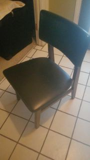 """42"""" Round Black Table w/2 chairs"""