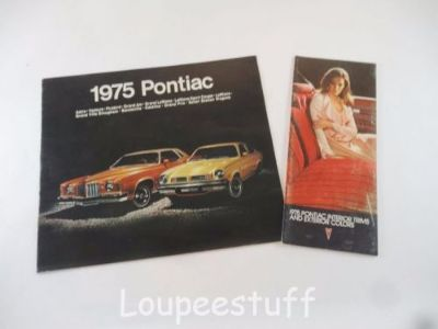 Sell ORIGINAL 1975 PONTIAC INTERIOR TRIM & EXTERIOR COLORS BROCHURES (3) L280 motorcycle in Camdenton, Missouri, United States, for US $9.99