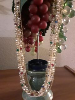 Vintage beautiful 7 strand Freshwater Pearl and gemstones Necklace
