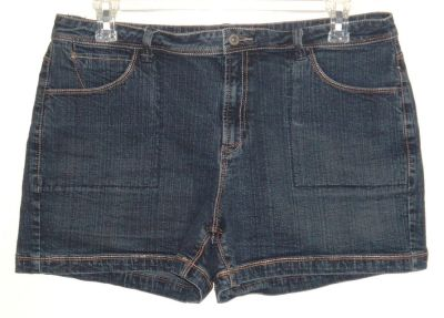 Faded Glory Denim Jean Shorts Womens Plus 18 Stretch 18w