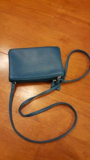 "Darling long strap 5""x8"" turquoise purse"