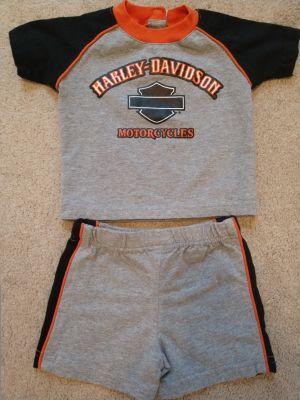Harley Davidson Shirt & Short Set (6-9 mos)