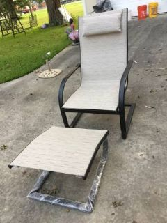CHAIR AND OTTOMAN -have not been used - FOR PATIO