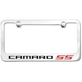 Purchase Chrome License Plate Frame Camaro SS Red motorcycle in DeLand, Florida, US, for US $29.99