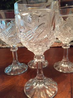 Vintage wine glasses, Set of four