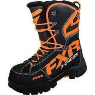 Purchase NEW FXR RACING X CROSS SNOWMOBILE BOOTS BLACK/ORANGE MEN-8 WOMEN-10 16508.30108 motorcycle in North Adams, Massachusetts, United States, for US $169.95