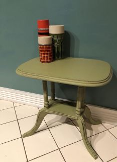Pale green accent table