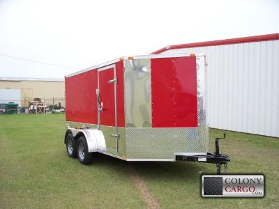 $3,750, Ft Red Elite 7x12 Tandem Axle W Motorcycle Package