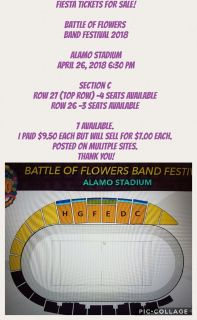 Tickets for Sale! Battle of Flowers Band Festival
