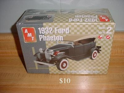 New Sealed AMT 1932 Ford Phaeton 2-Door Hardtop Challenging Plastic Model Kit. Scale 1:25. Recommended For Ages 10 & Up. $10