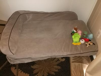 Xl dog bed with toys xposted