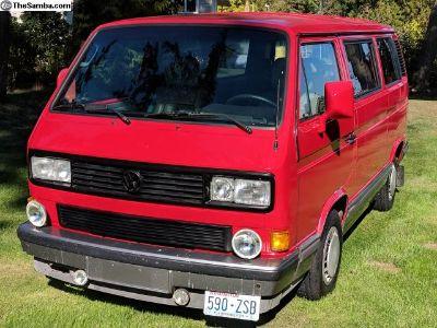 1991 Red Vanagon
