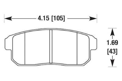Find HAWK HB378F.626 - 02-03 Nissan Maxima Black Ferro-Carbon Rear Brake Pads motorcycle in Chino, California, US, for US $76.32