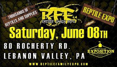 Reptile Family Expo Super Reptile Show June 8th