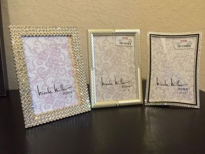 """Brand New and Never Used - Set of 3 - Blinged Out Photo Frames - 4"""" x 6"""""""