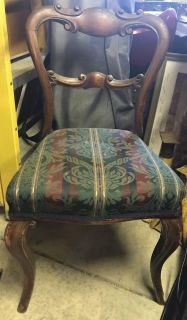 Antique Balloon Back Chairs- set of 6