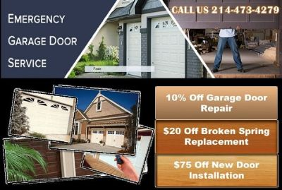 1 hour Instant Garage door Installation $25.95 Dallas 75244