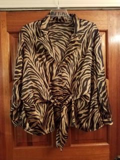 3X, JONES NEW YORK, BLACK &GOLD SILKY TOP, EXCELLENT CONDITION, SMOKE FREE HOUSE