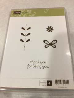 Stampin Up Bold Blossom Acrylic Mount Stamp Set