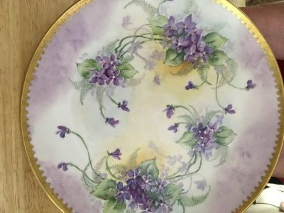 Antique Bowl and Antique Plate