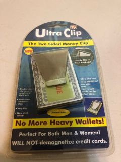 New! Great gift two sided money clip as seen on TV-(b106)
