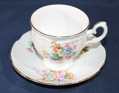 Vintage Crown Staffordshire Tea Cup and Saucer