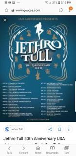 Jethro Tull tickets for Sat 50th anniversary