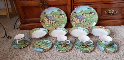 Country Pattern Dishes
