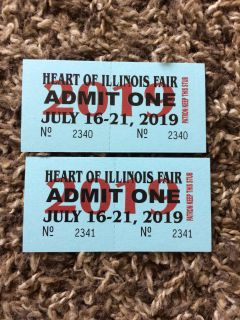 Heart Of Illinois Fair tickets selling as a set