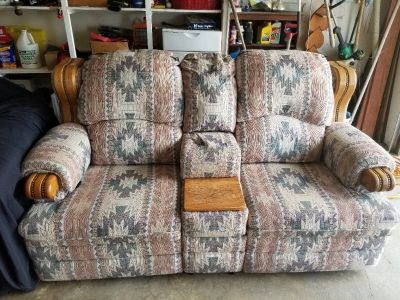 Reclining Love Seat & Oversized Chair & Ottoman