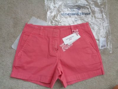 NWT Vineyard Vine 3-1/2 Every Day shorts sz.0 Lobster Reef