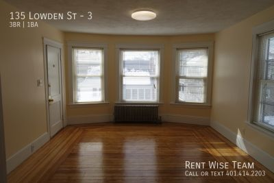Spacious 3 Bed, Private Porch, Off Street Parking, Coin-Op Laundry
