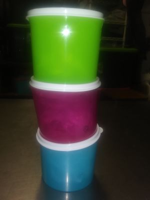 New Tupperware mini canister set of 3 $12