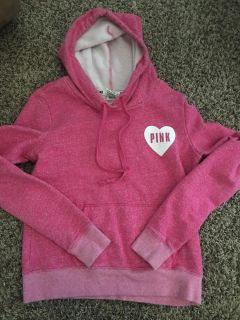 Pink pullover jacket size small.