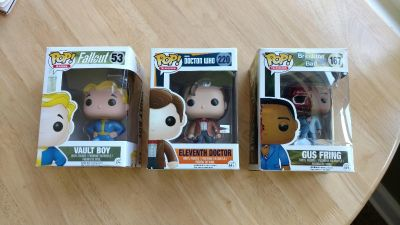 3 NIB POP Television Characters $8.00 each or all 3 for $20.00