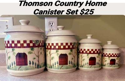 Thomson Country Home Canister Set