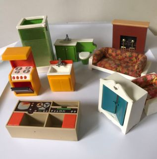 Vintage Fisher Price Doll House Furniture