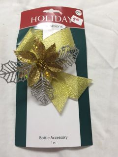 HOLIDAY BOTTLE BOW - NEW!