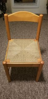 Vintage Wooden chair solid seat is removable