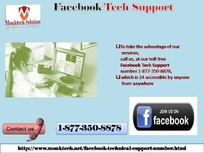 Sharpen your cognizance in collaboration with 1-877-350-8878 Facebook tech support