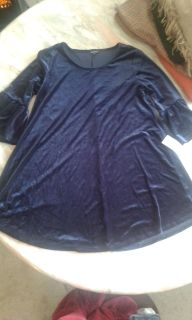New with tags blue velvet dress