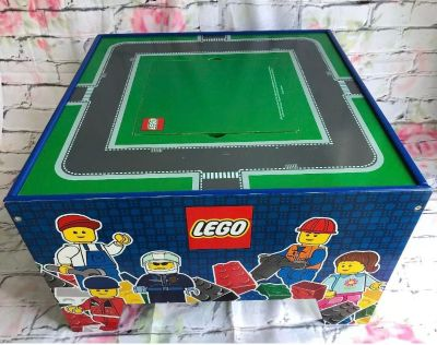 2011 wooden LEGO play table & storage net