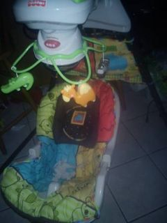 baby swing with mobile and music