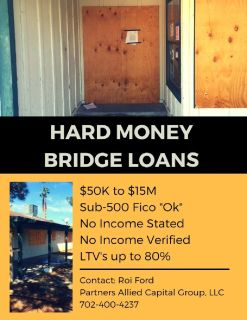 Hard Money Loans / Commercial Loans / Apartment Financing