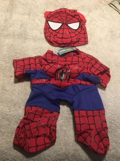 Build a Bear Spiderman costume