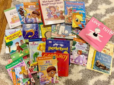 Lot of books. Mostly girls toddler aged books. All EUC