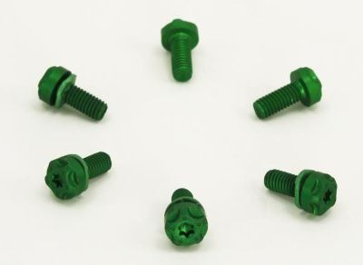 Buy Two Brothers Custom Shop Green End Cap Exhaust Hex Screw Set Bolts motorcycle in Ashton, Illinois, US, for US $15.98